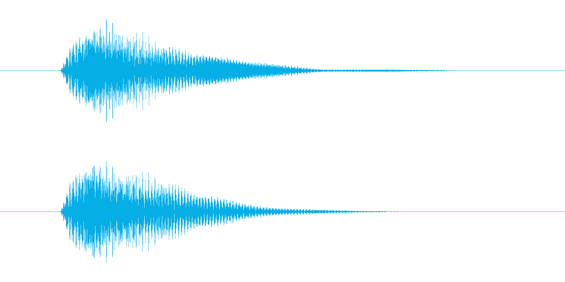 ボタンを押した時の取り消しや決定音ですの再生済みの波形