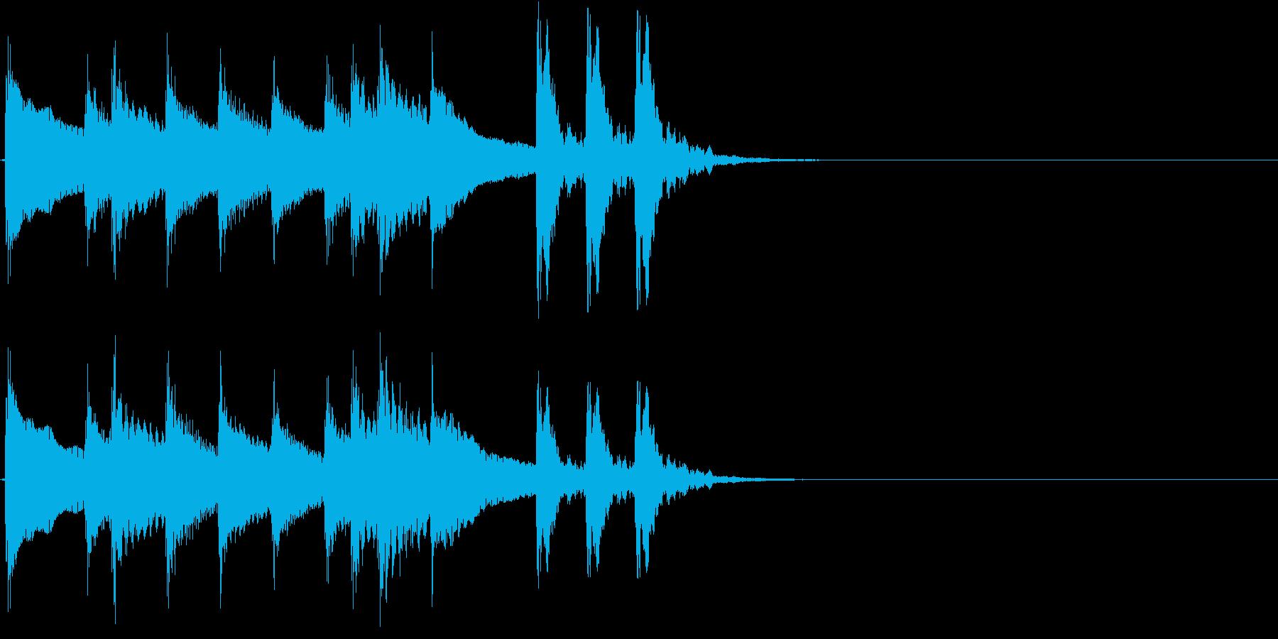 2,和風サウンドロゴ (3秒ロゴ)の再生済みの波形