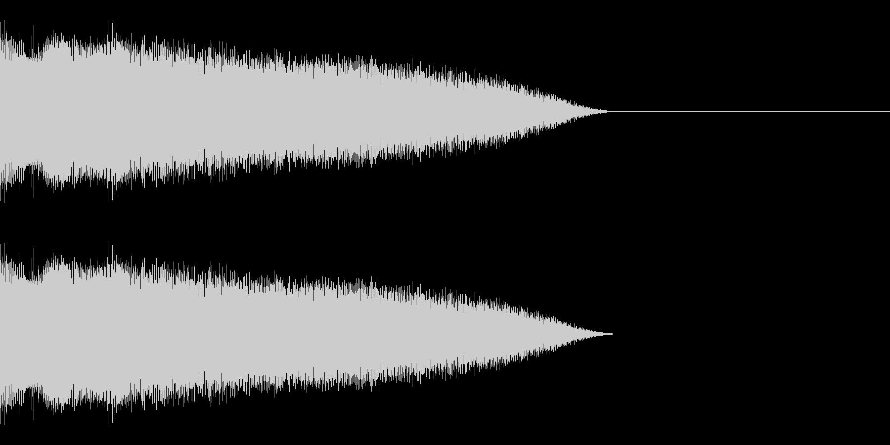 ビーム音01の未再生の波形