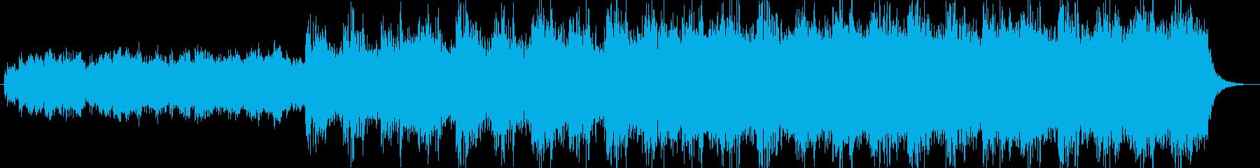 ハリウッド風ホラー映画オーケストラBGMの再生済みの波形