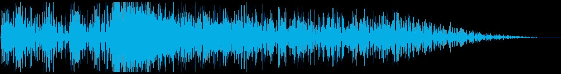 ドンドンバシューン(爆弾の音)の再生済みの波形