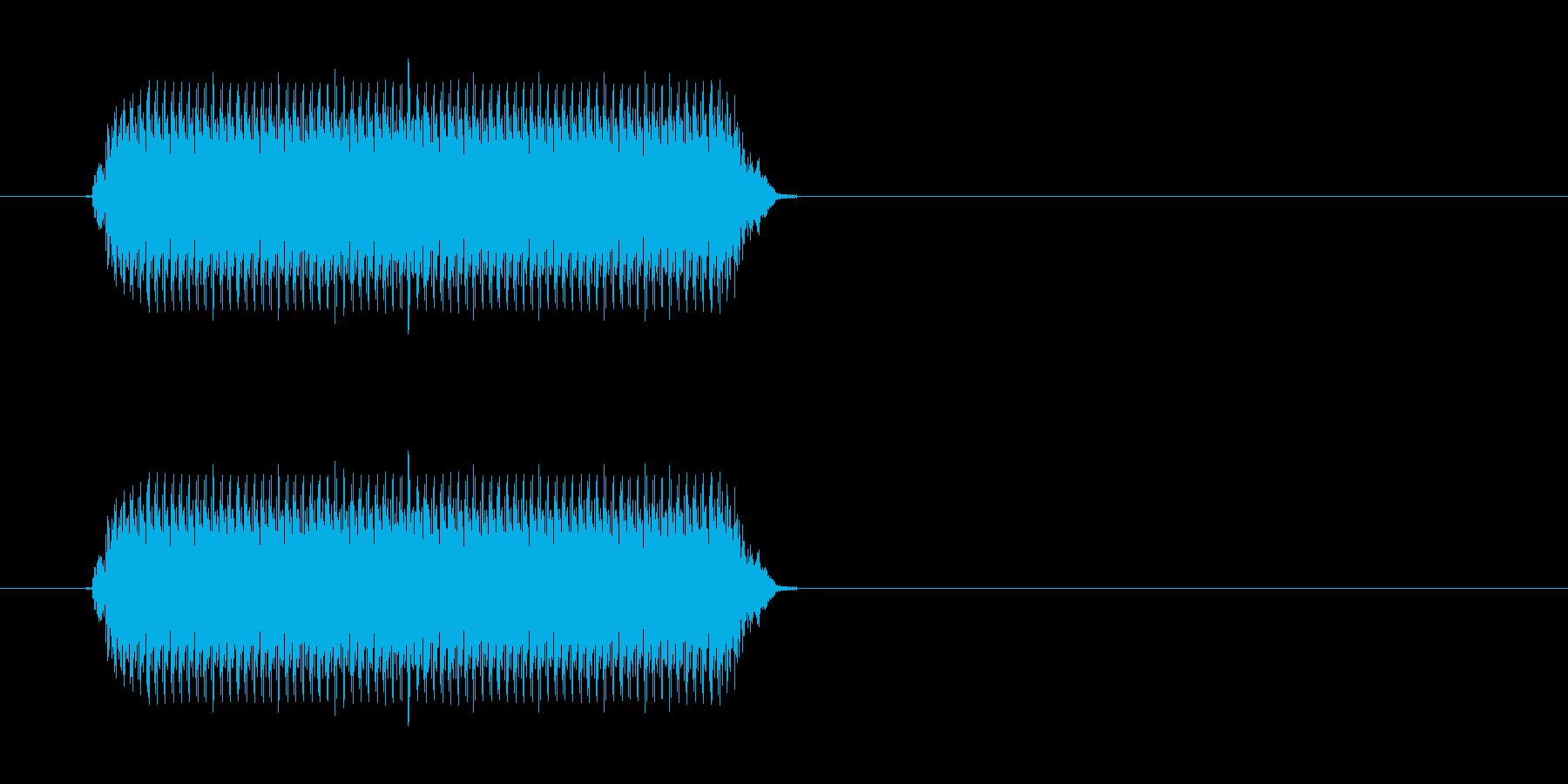 警報機の音の再生済みの波形