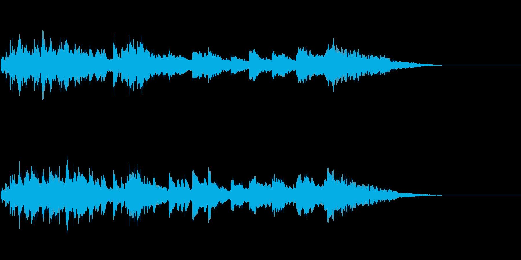 静かに終わるファンファーレの再生済みの波形