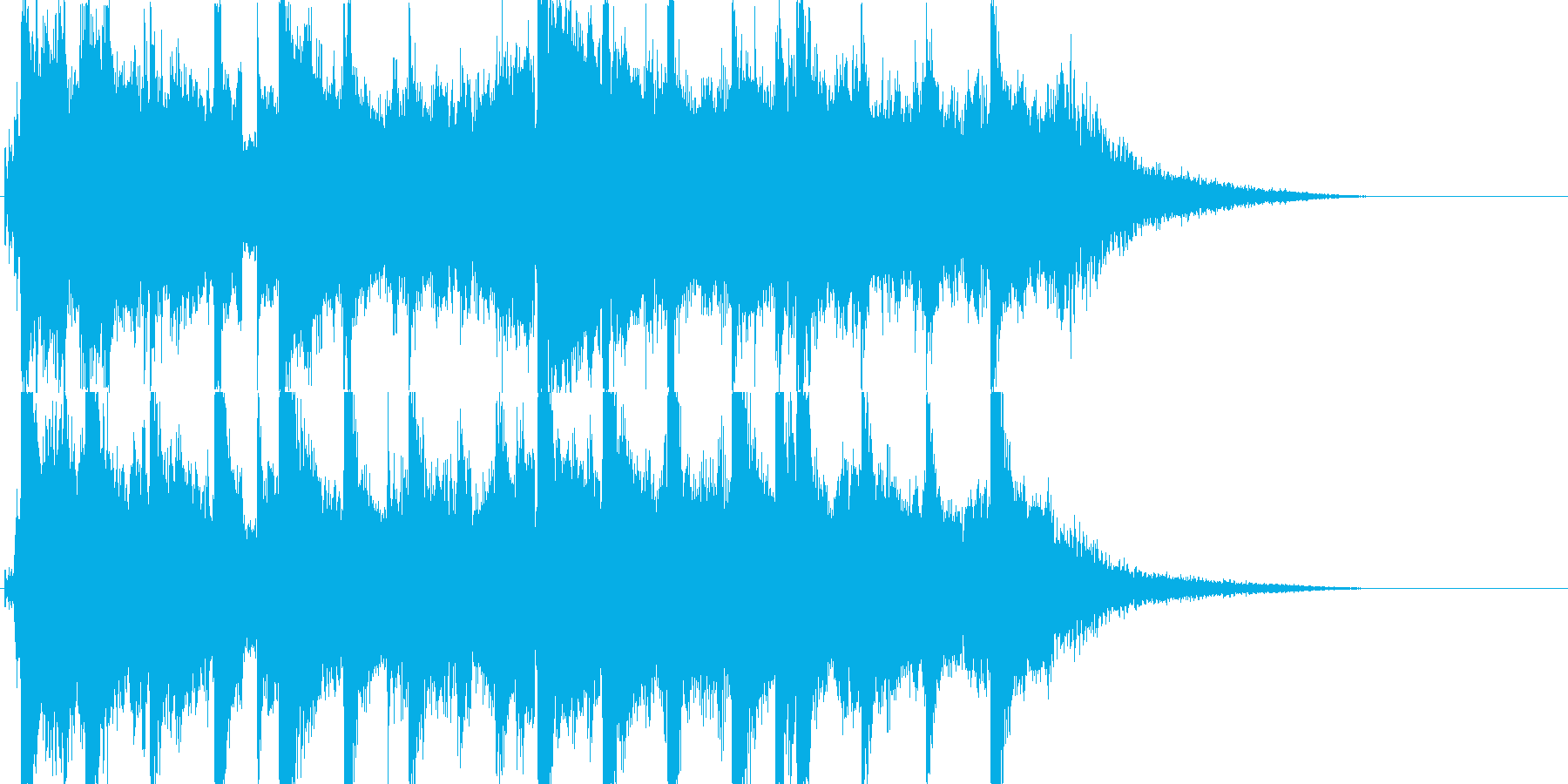 バグパイプのジングルの再生済みの波形