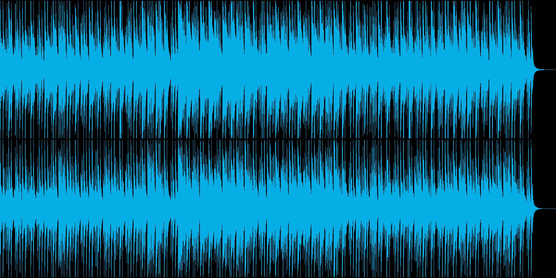 軽快で可愛いポップの再生済みの波形