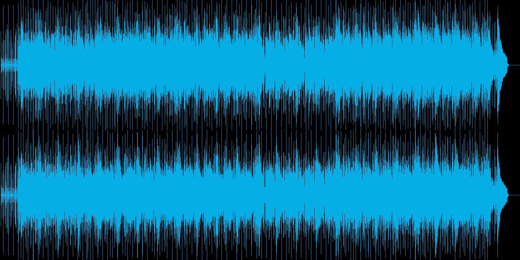 充実した目覚めをイメージしたポップスの再生済みの波形