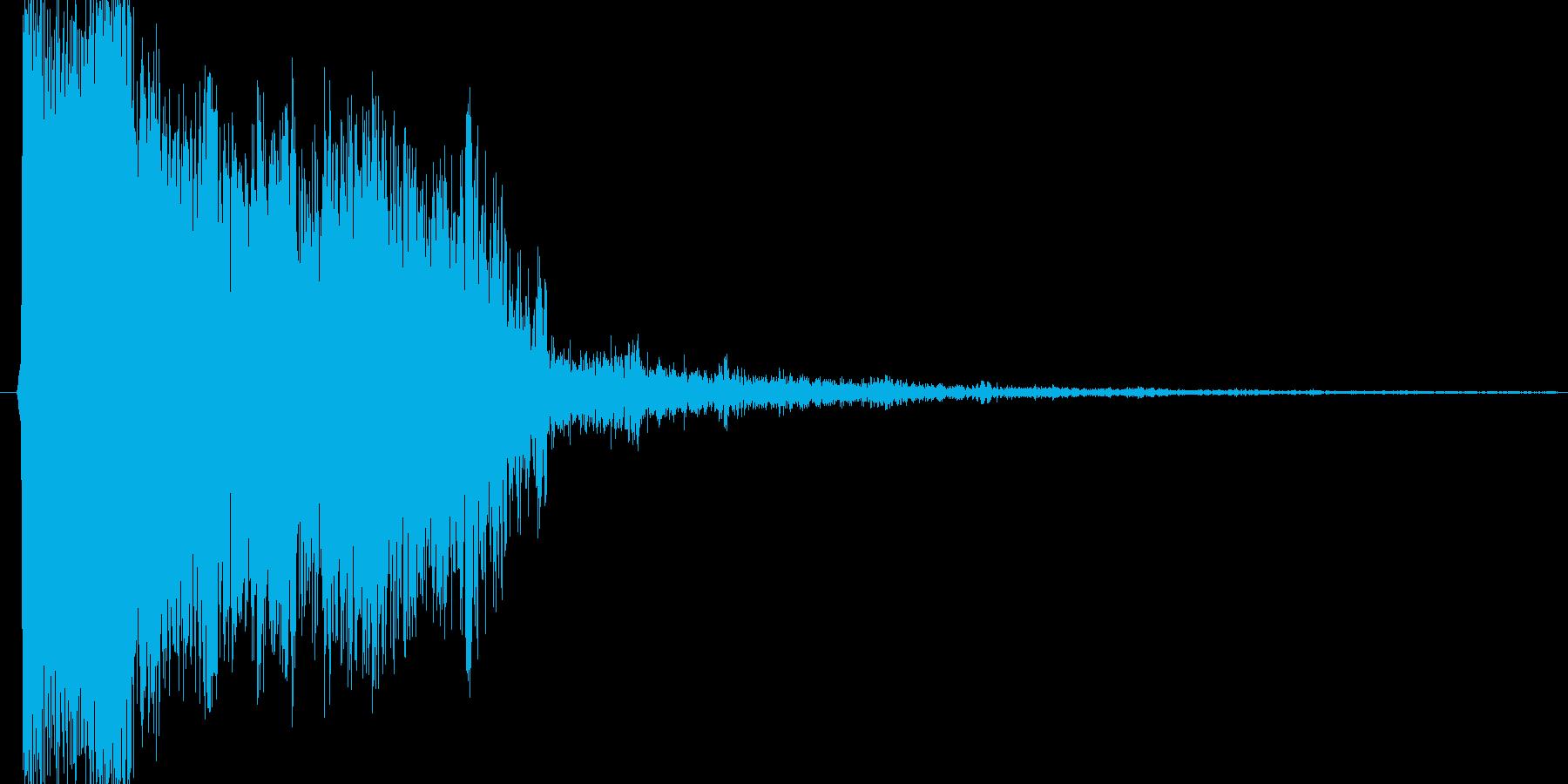 ピシュー という敵を倒したような音の再生済みの波形
