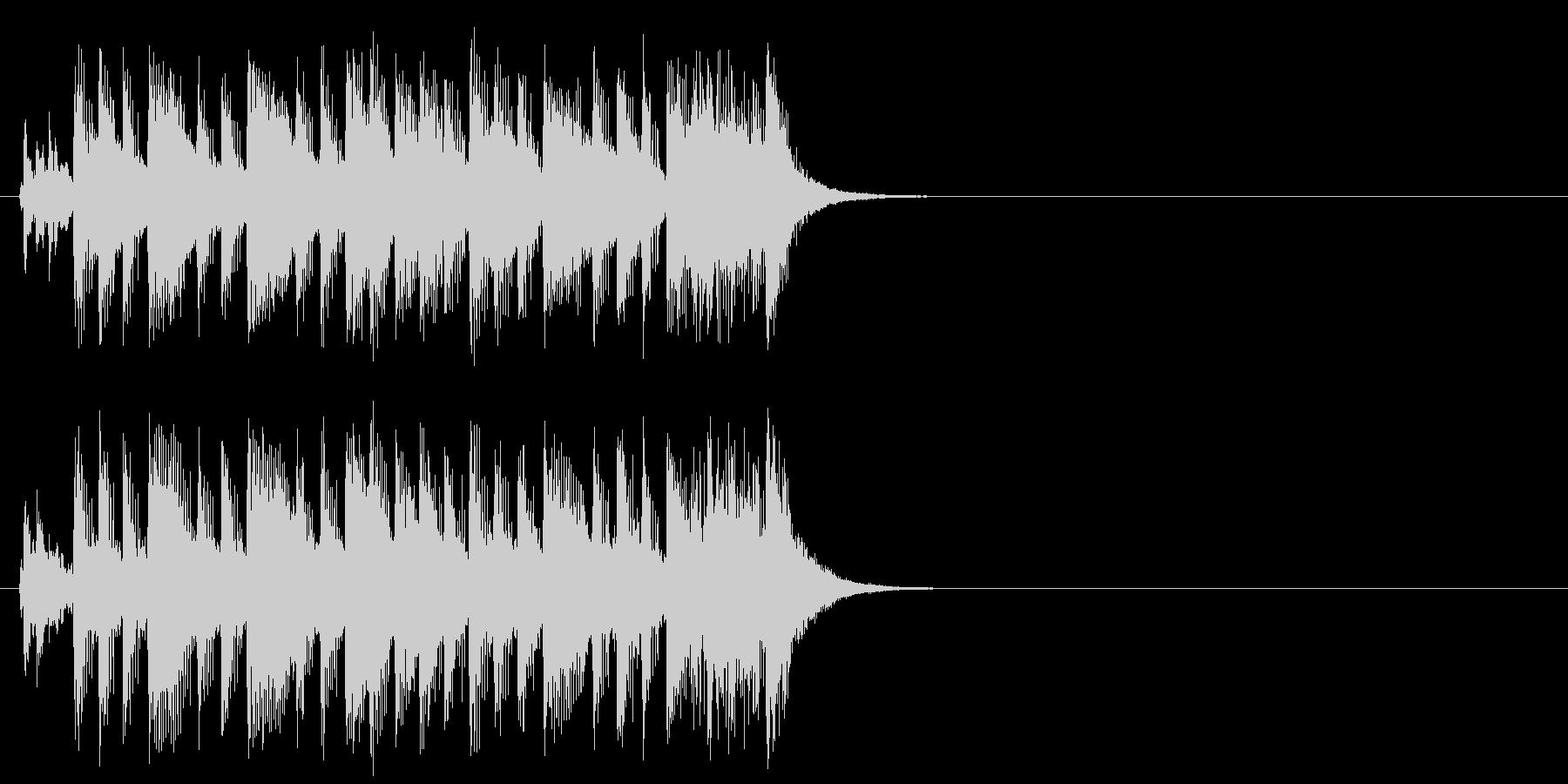 オープニング向けジングルの未再生の波形