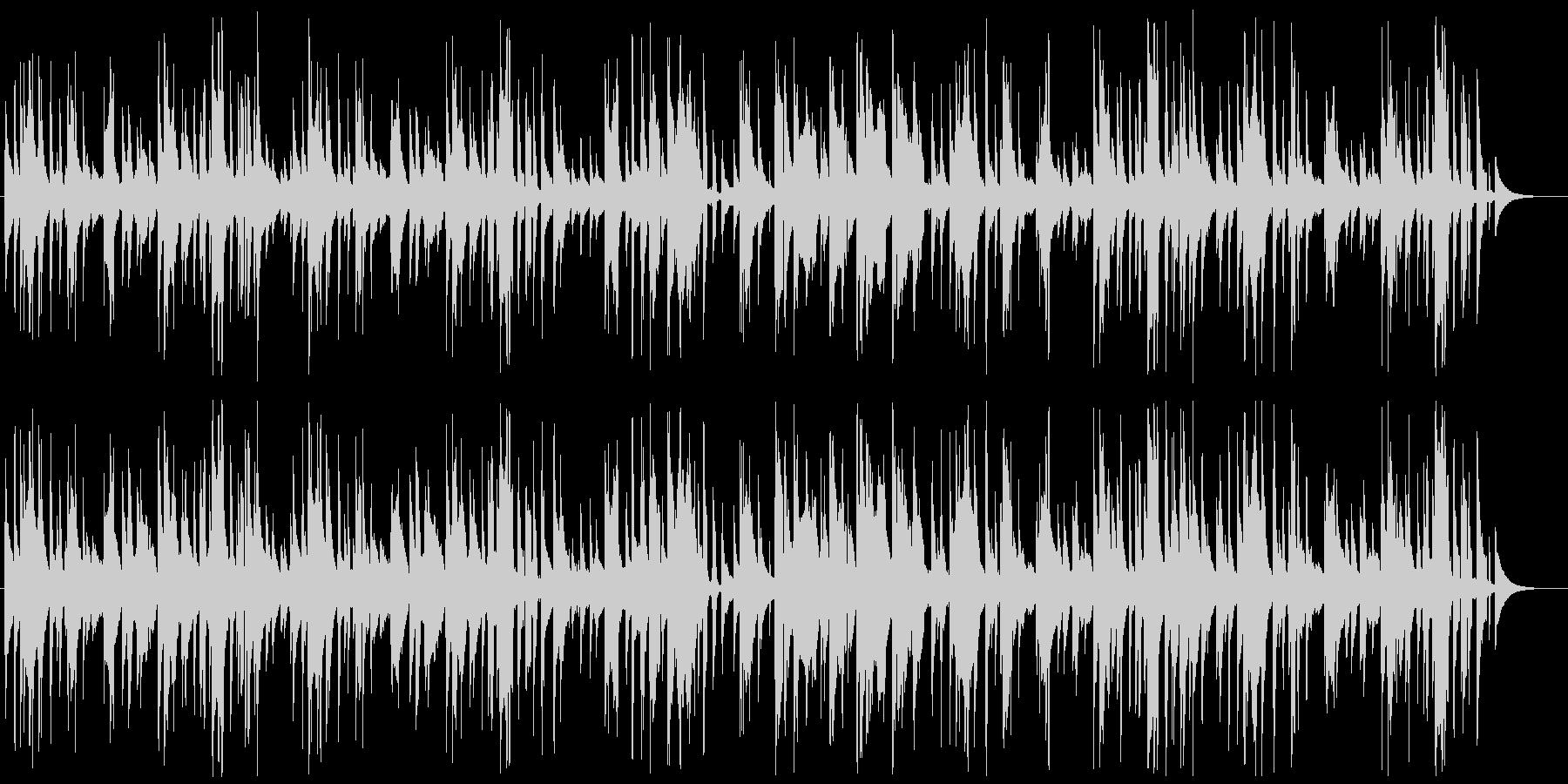 口笛とウクレレによる、のどかでゆるい曲の未再生の波形