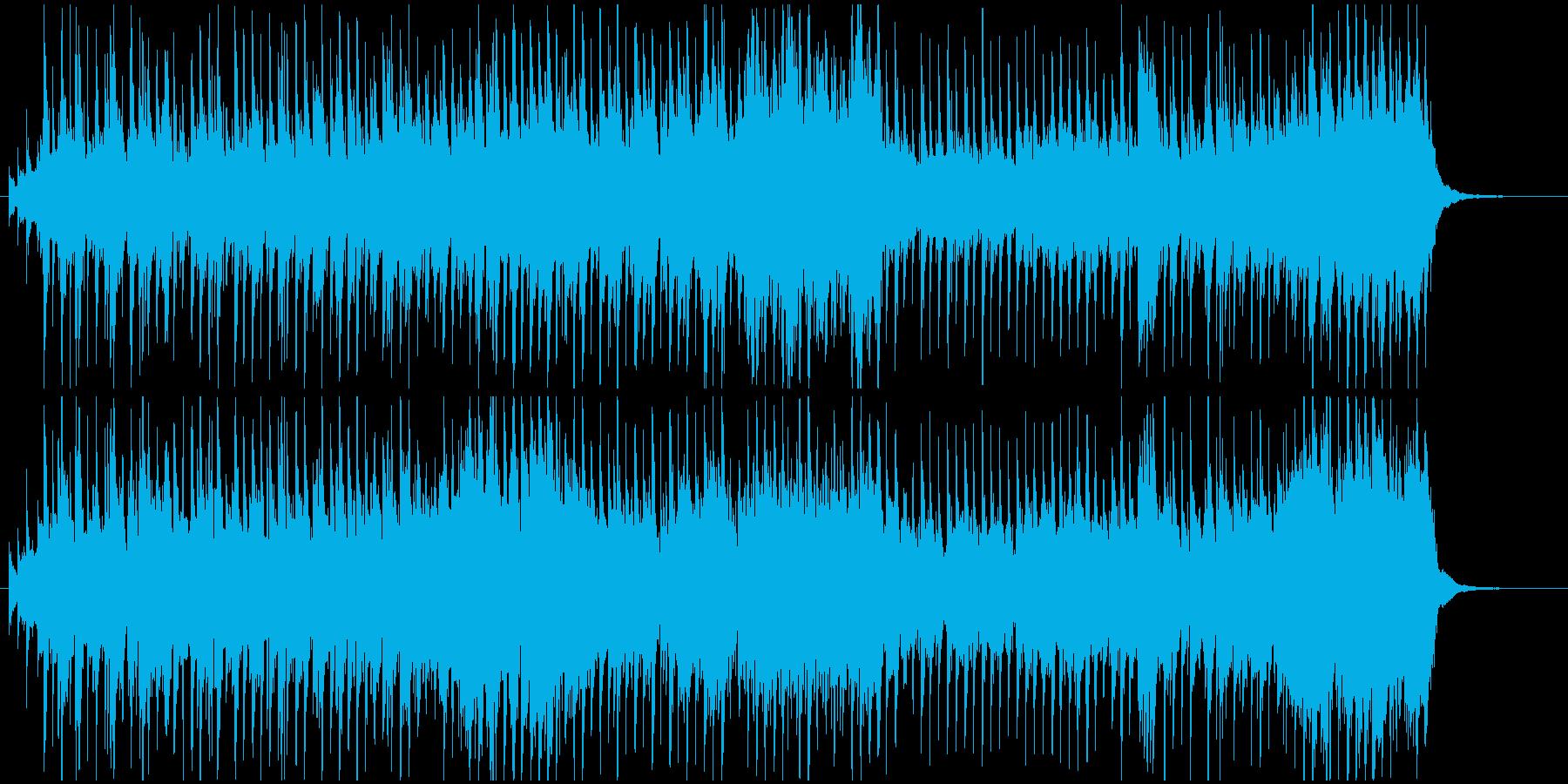 ホイッスルとギターの爽やかなケルト風楽曲の再生済みの波形
