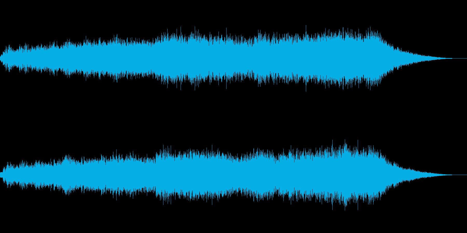 神秘的な雰囲気のアンビエント(背景音)の再生済みの波形