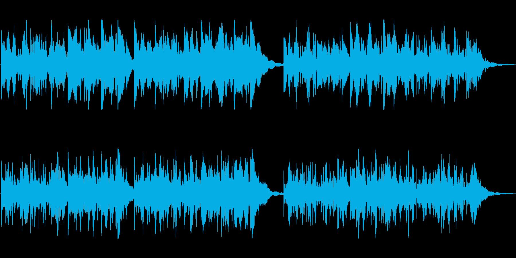 平穏、静かな日常のアコースティック曲の再生済みの波形