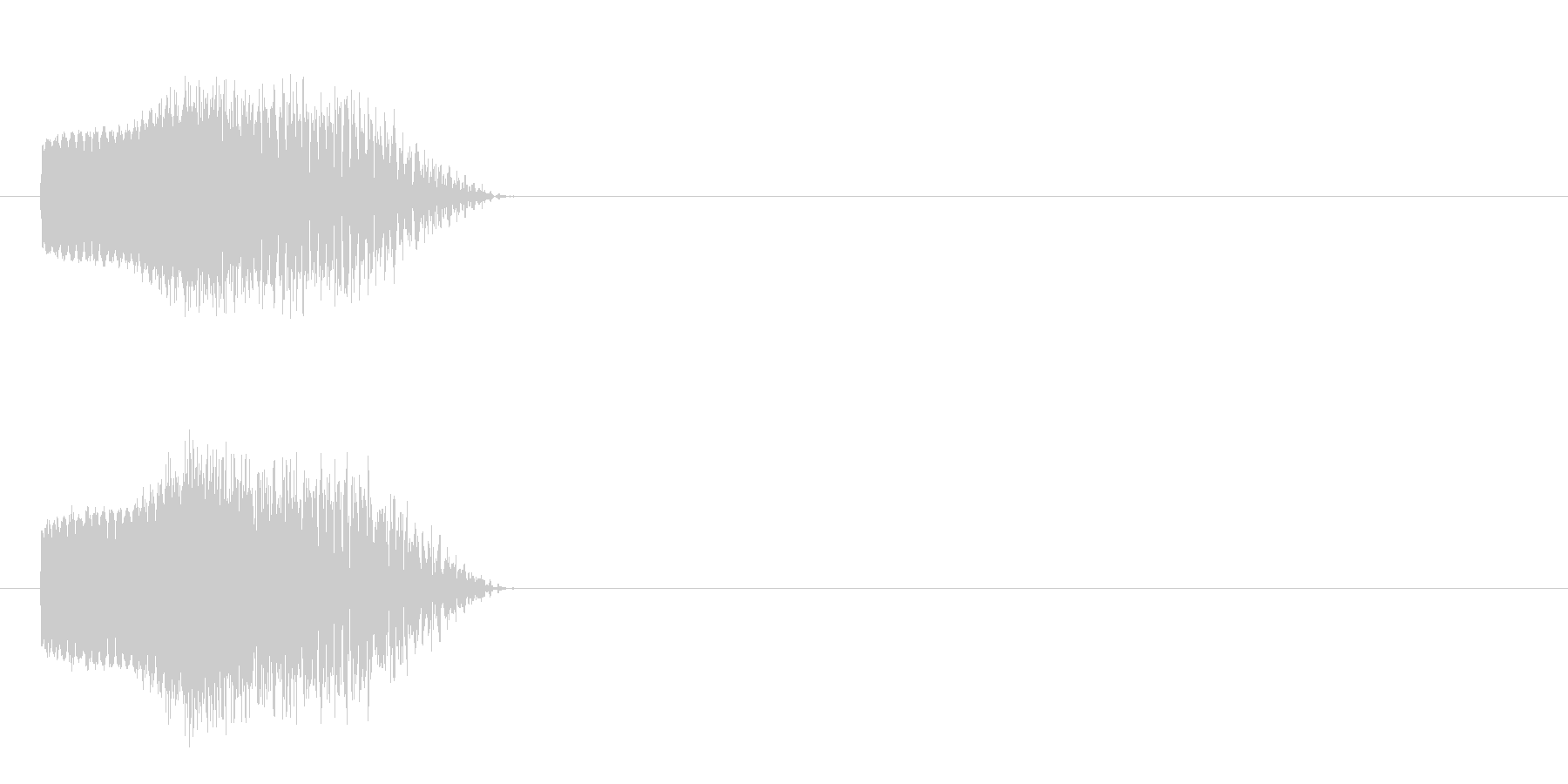 登場 SF風の未再生の波形