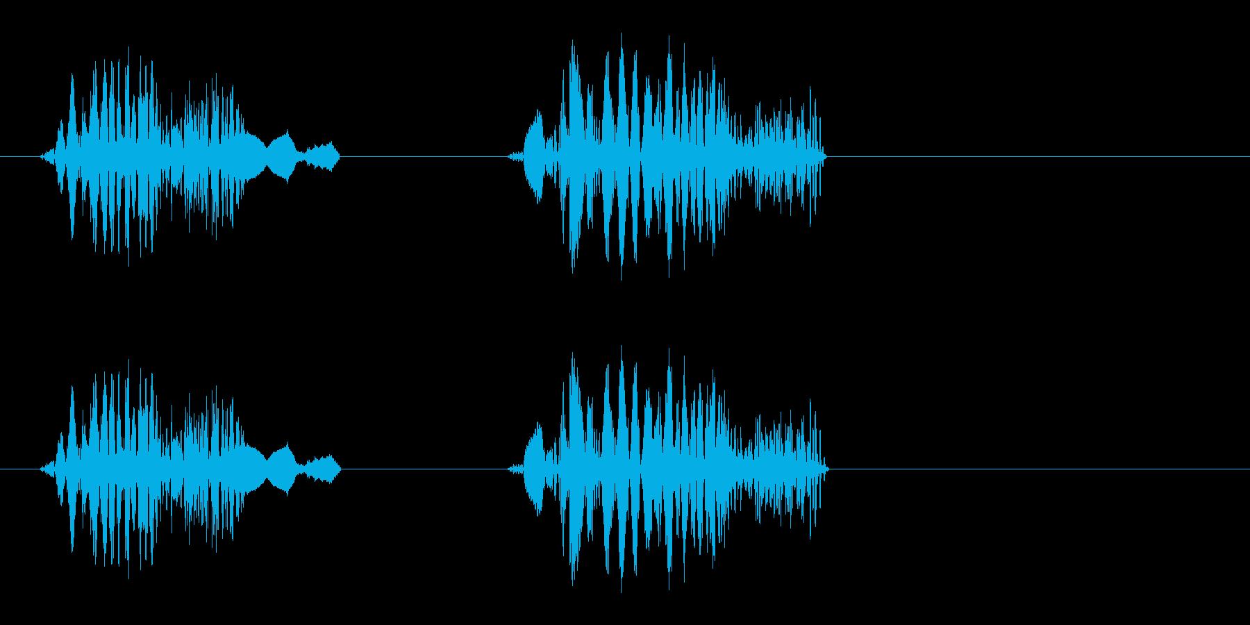ギュギュ(短めの音)の再生済みの波形