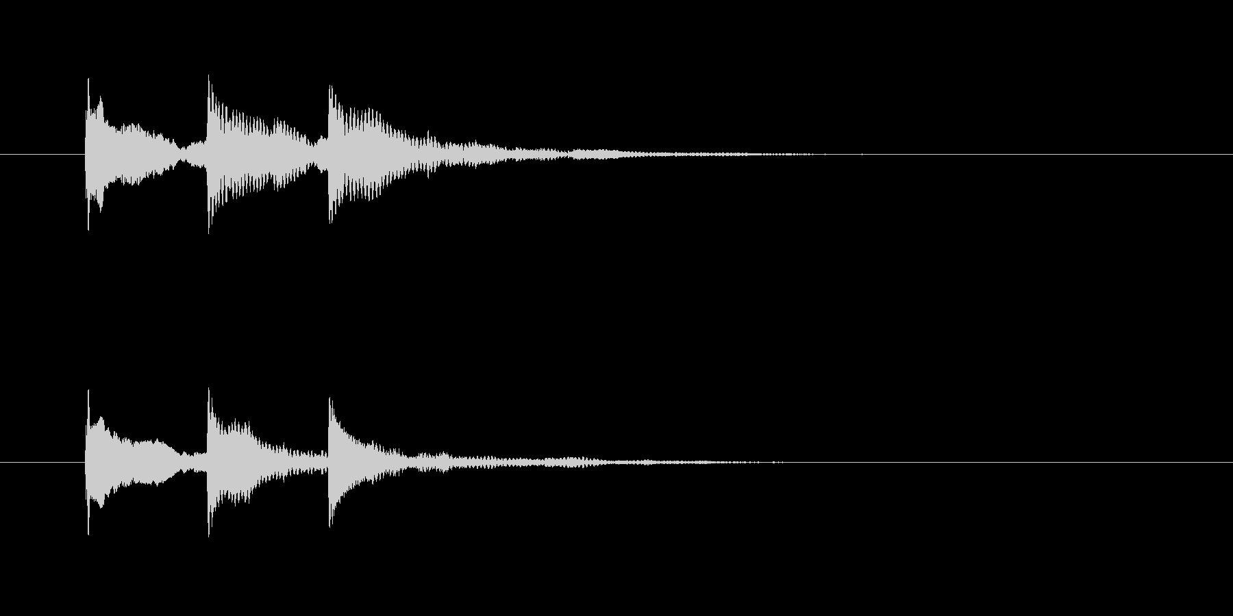 タンタンターン(静かな場面転換)の未再生の波形