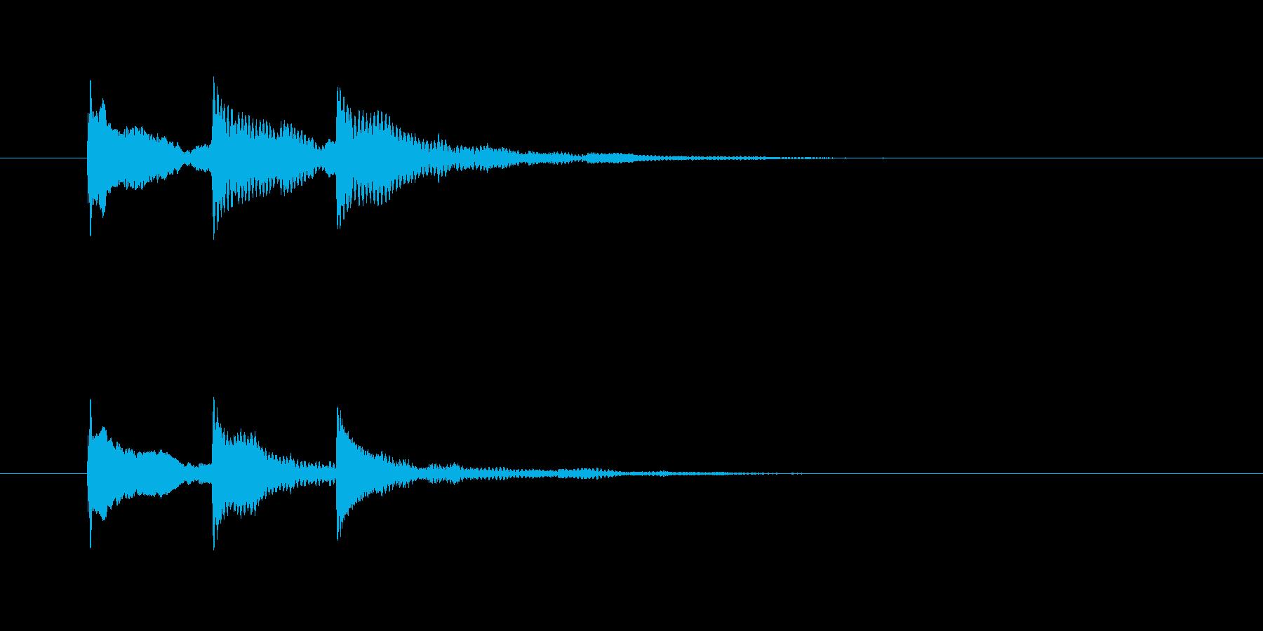 タンタンターン(静かな場面転換)の再生済みの波形