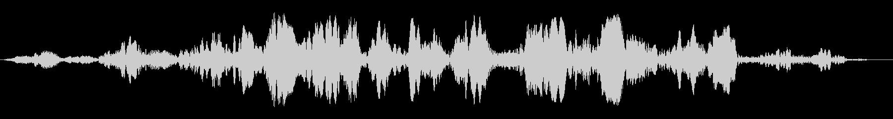 プワプワプワ(回転音)の未再生の波形