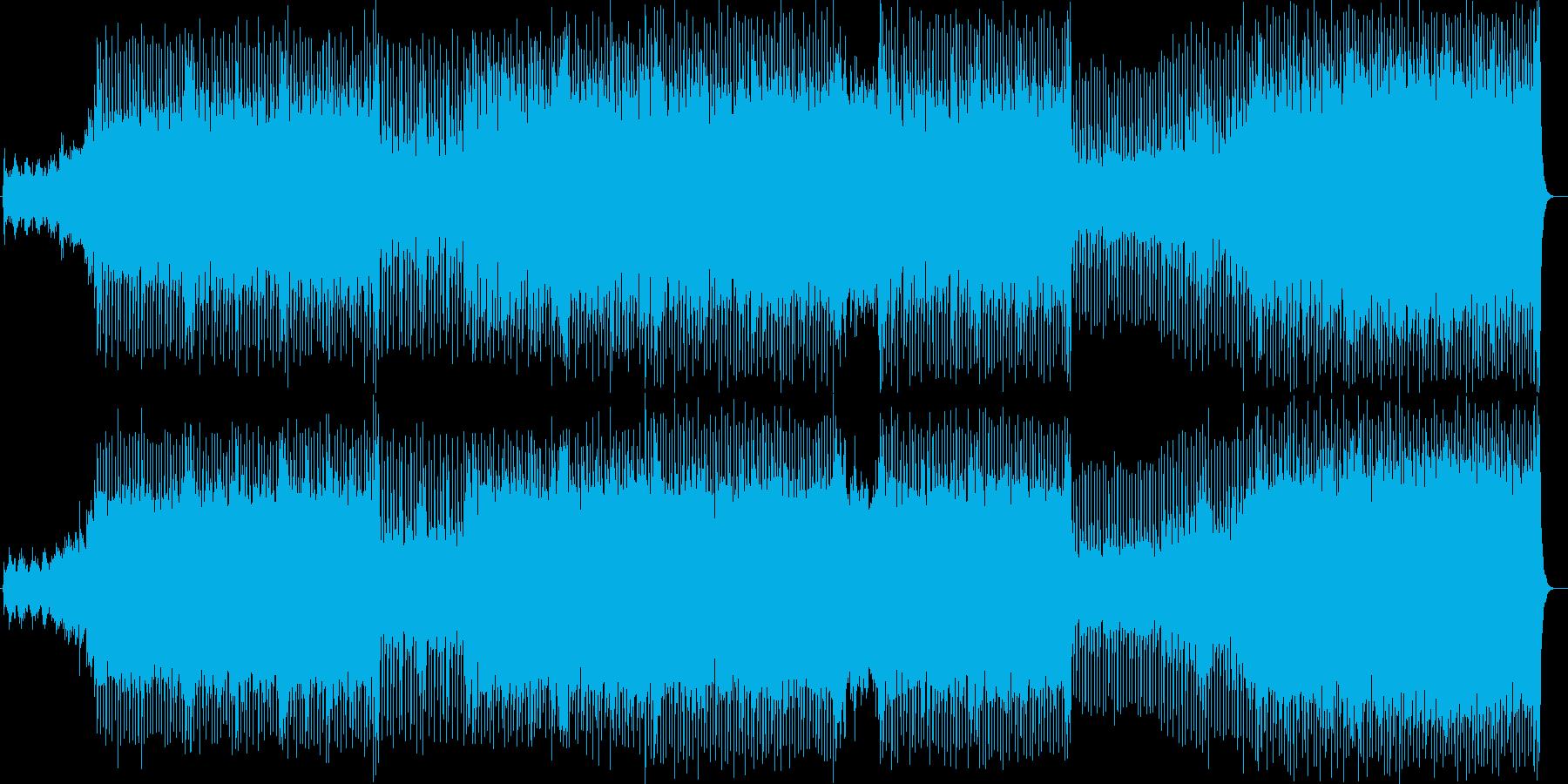 近未来的なアップテンポの曲の再生済みの波形