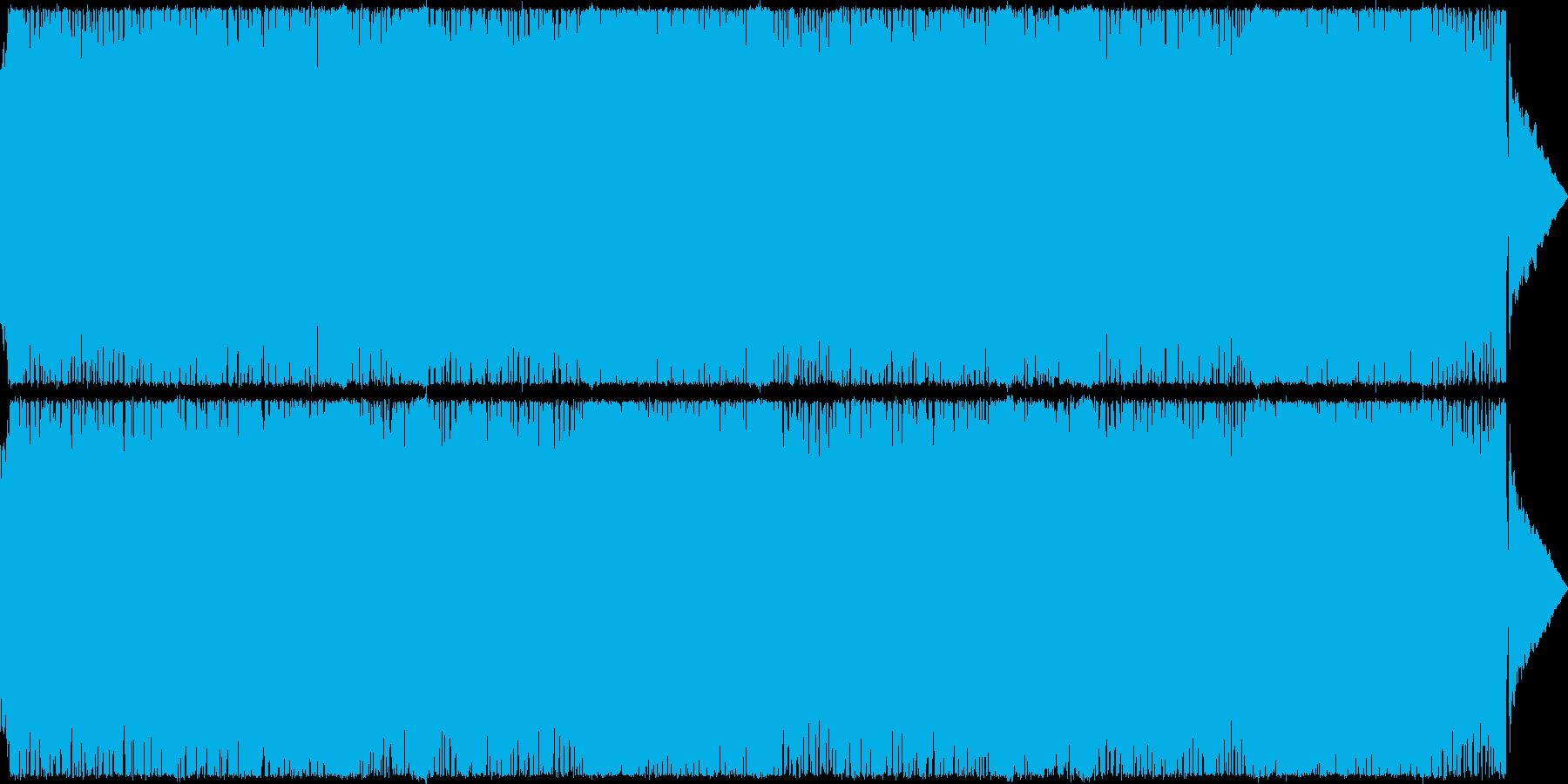 【バトル】テンポの速い戦闘向けのロックの再生済みの波形