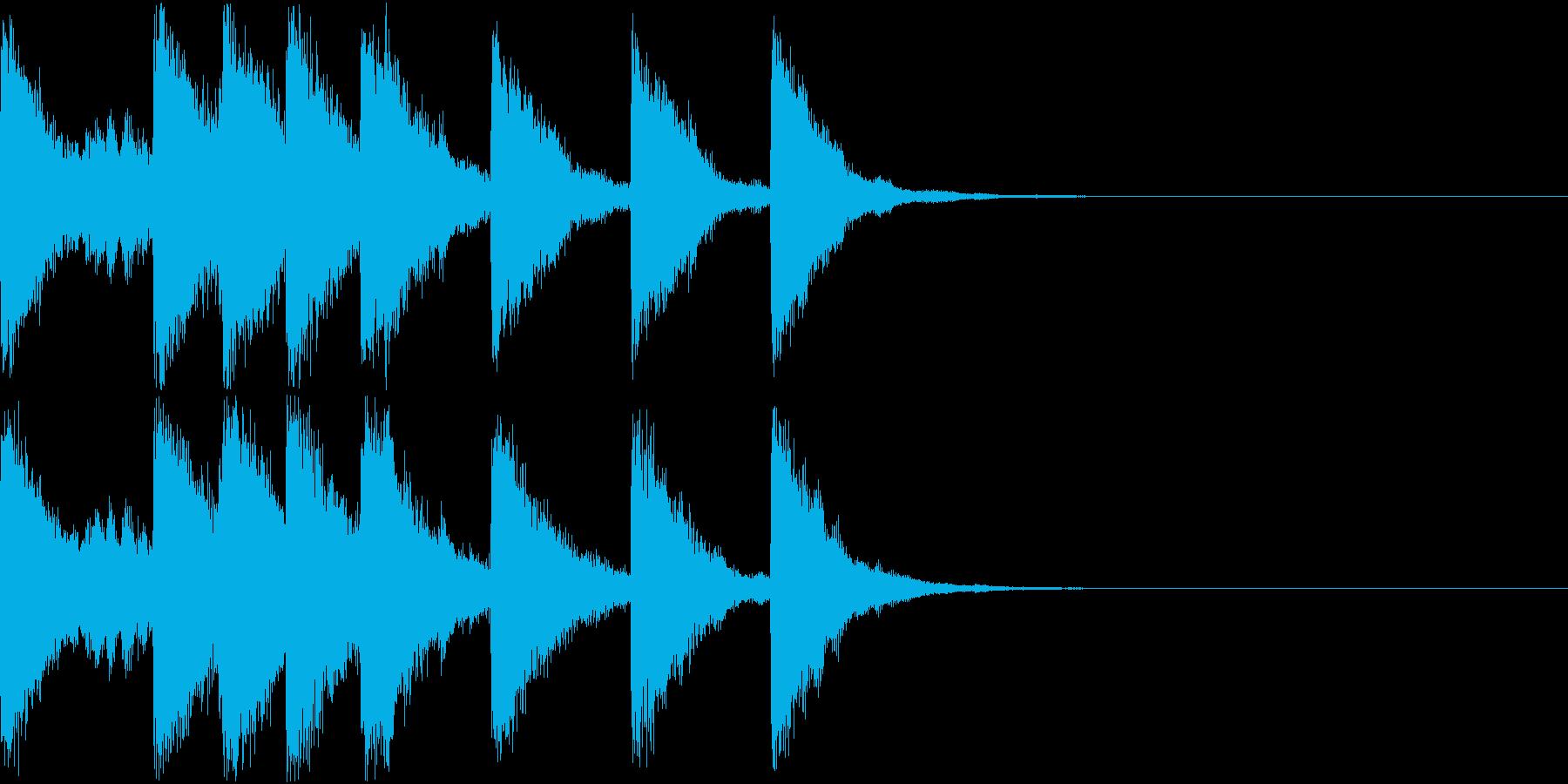 ベル ファンファーレ シンプル 01の再生済みの波形