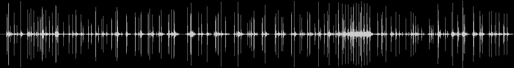 そろばんを弾く音 ご破算音入りの未再生の波形