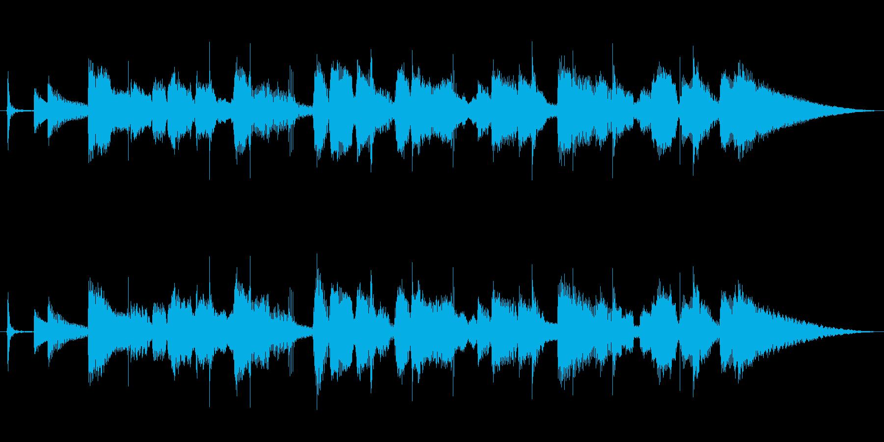 ほのぼの可愛い口笛ギターポップ/10秒の再生済みの波形