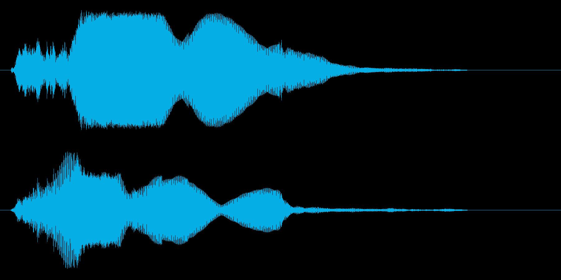 キンというガラスの音の再生済みの波形