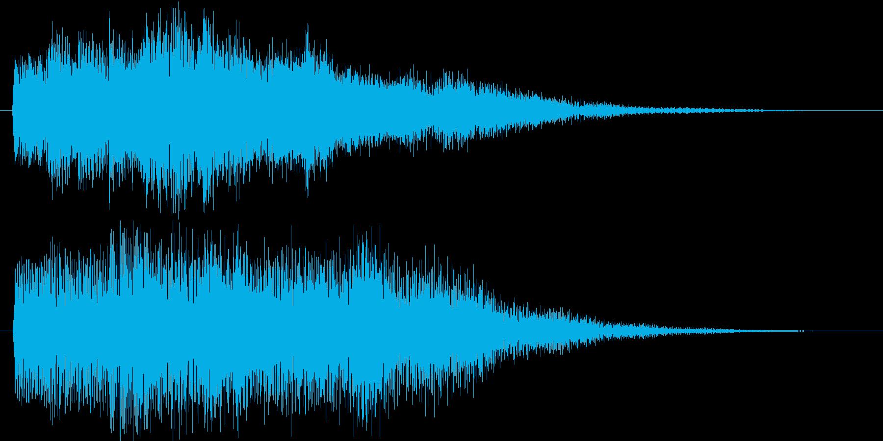 近未来的なステータスアップ音。ゲーム用の再生済みの波形