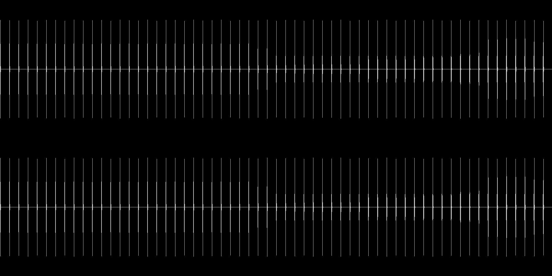 時計の針の音BPM80(速め)の未再生の波形