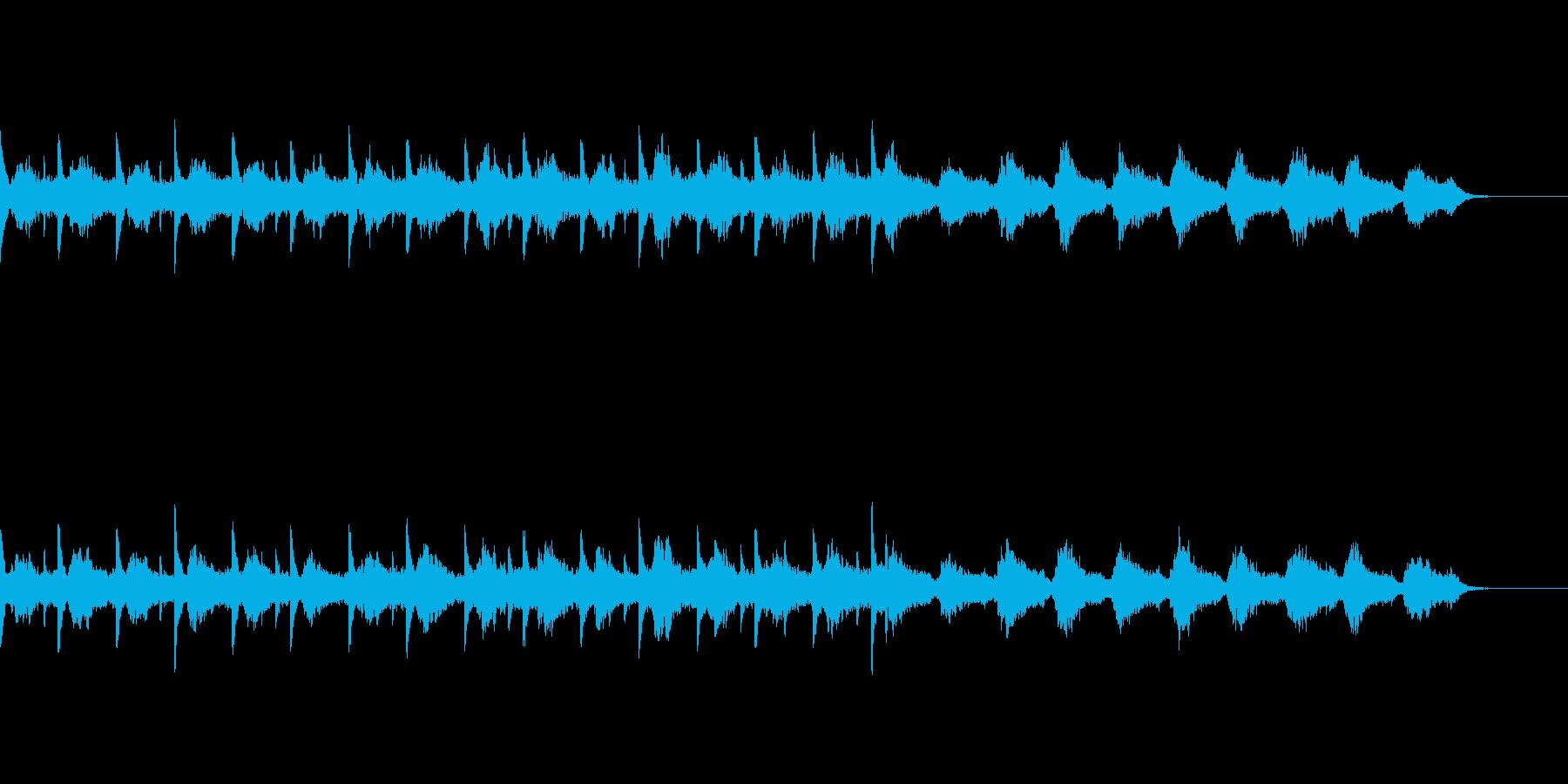 静謐なピアノとシンセのアンビエントBGMの再生済みの波形