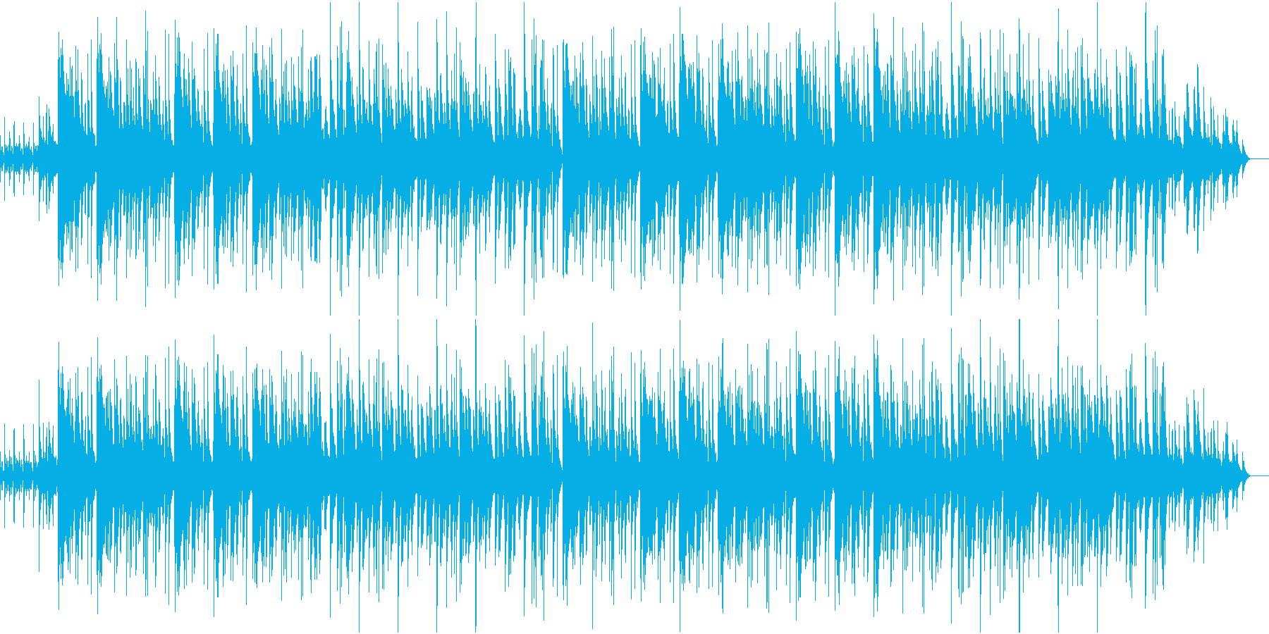 シャープで洗練されたジャズの再生済みの波形