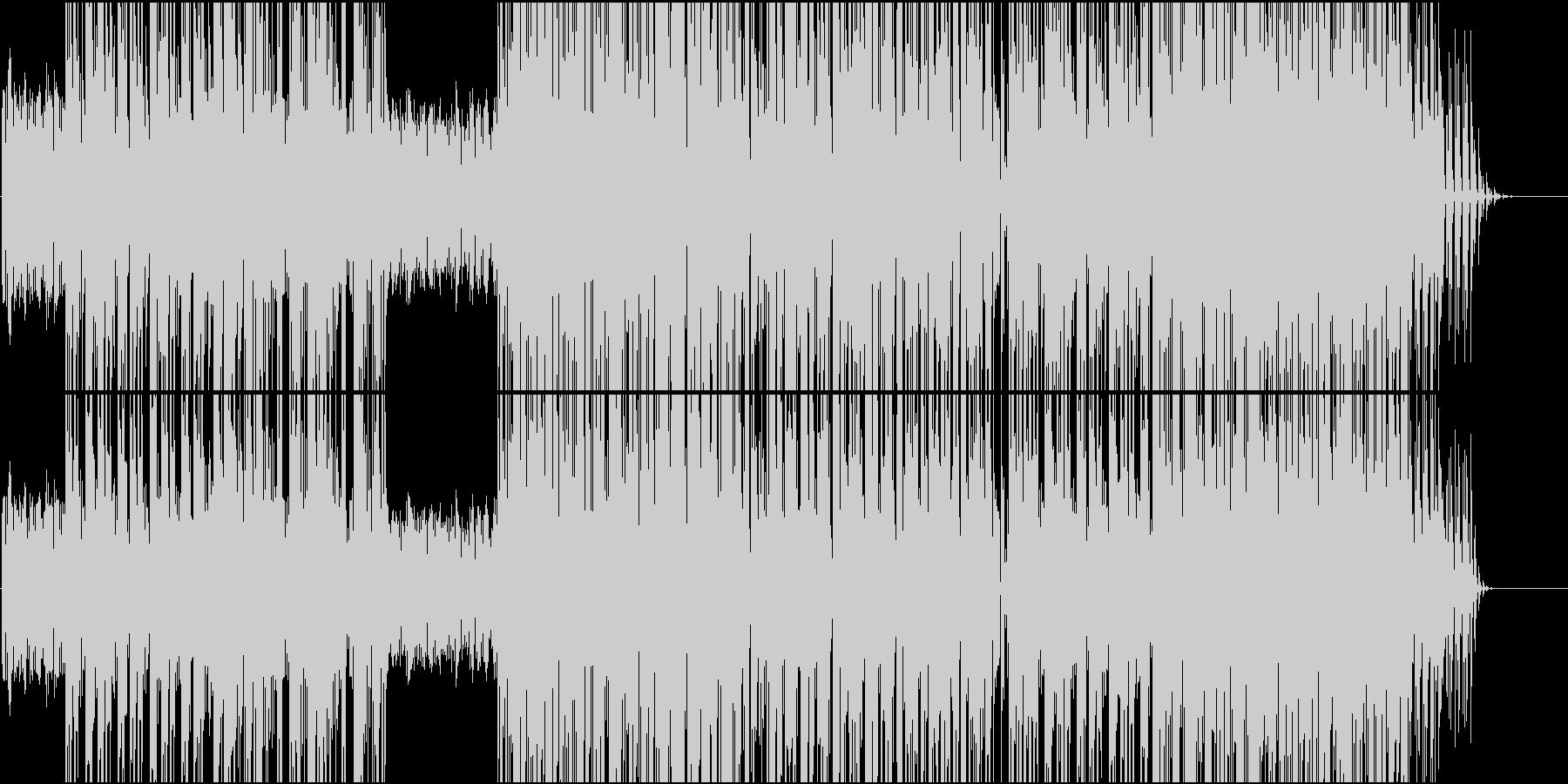テンポが良く疾走感のあるBGMの未再生の波形