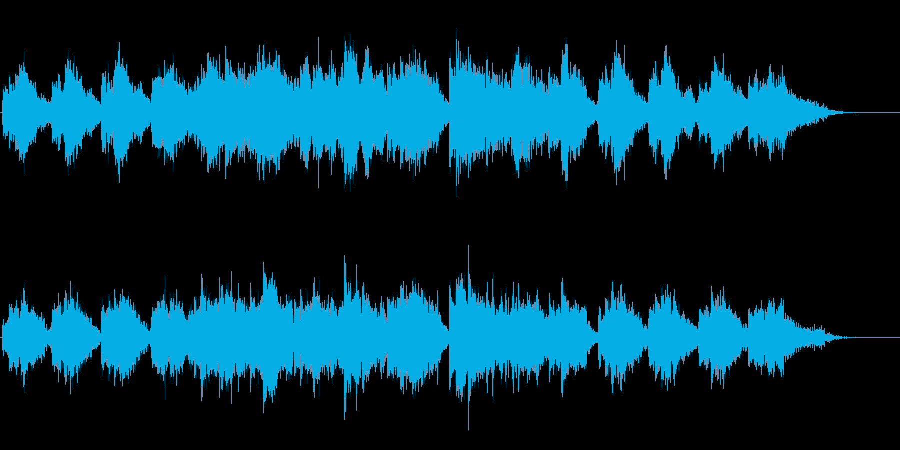 ピアノと笛の優しいほのぼのとしたジングルの再生済みの波形