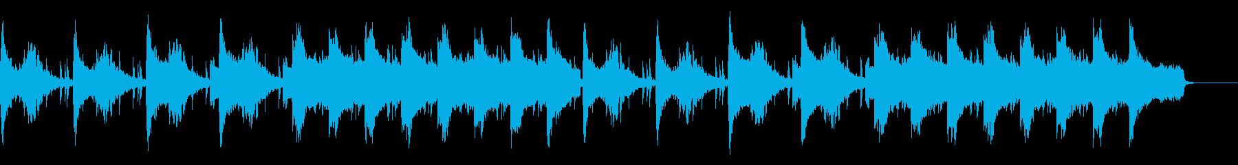 不穏なシーン用 ピアノとストリングスの再生済みの波形
