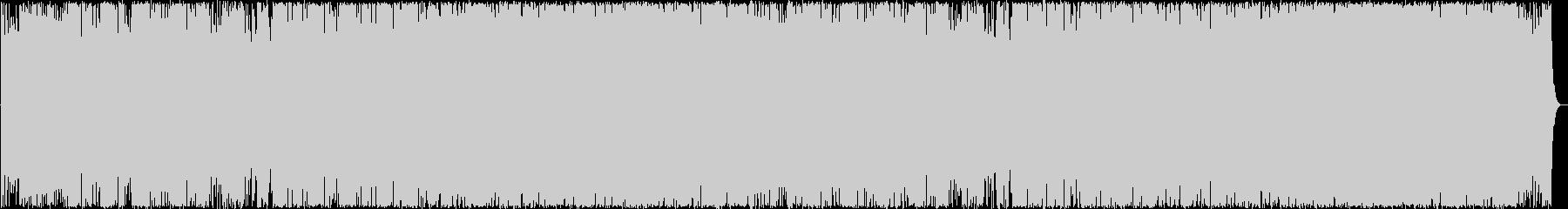 緊迫したアップテンポなインストロックの未再生の波形