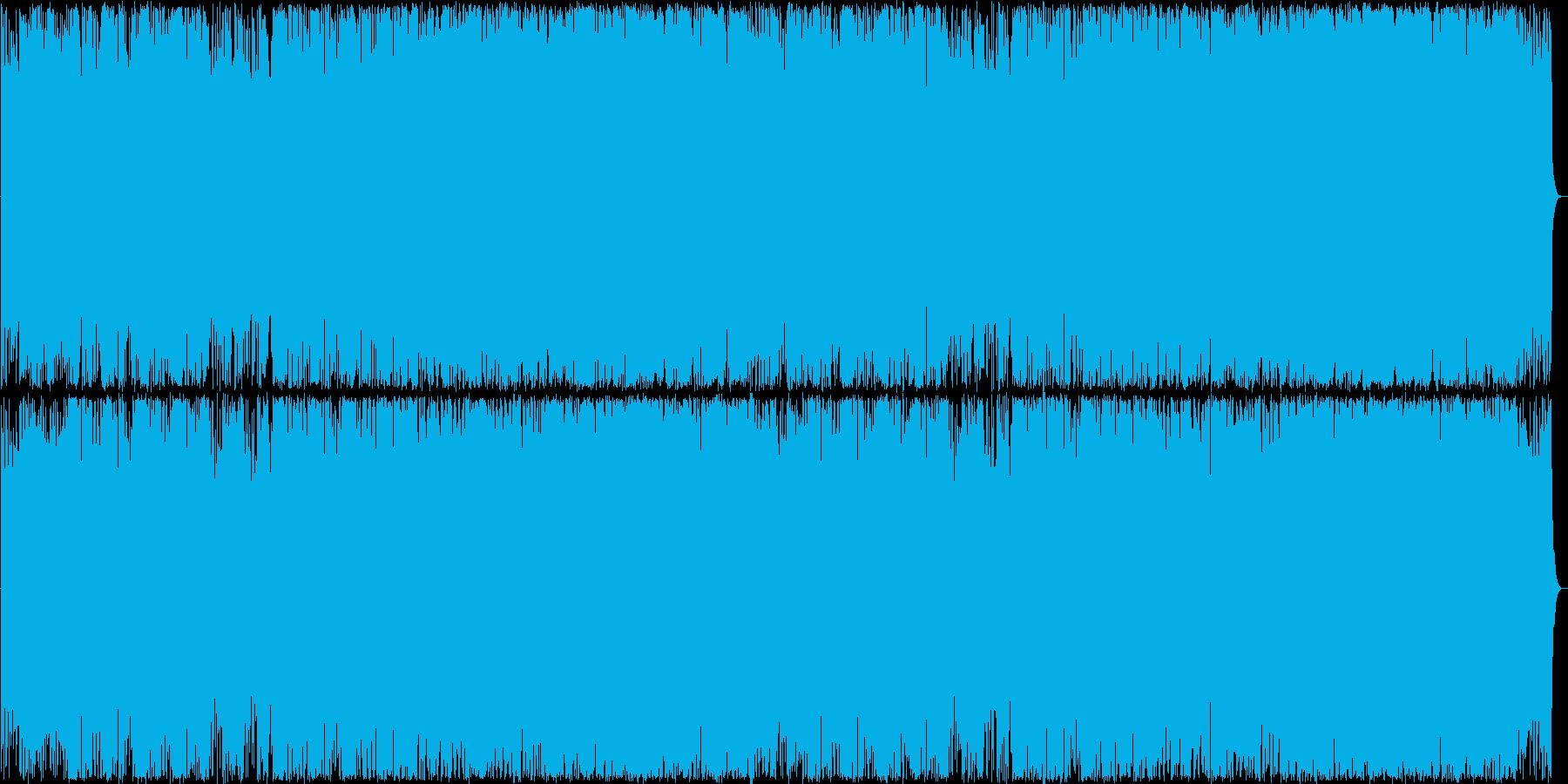 緊迫したアップテンポなインストロックの再生済みの波形