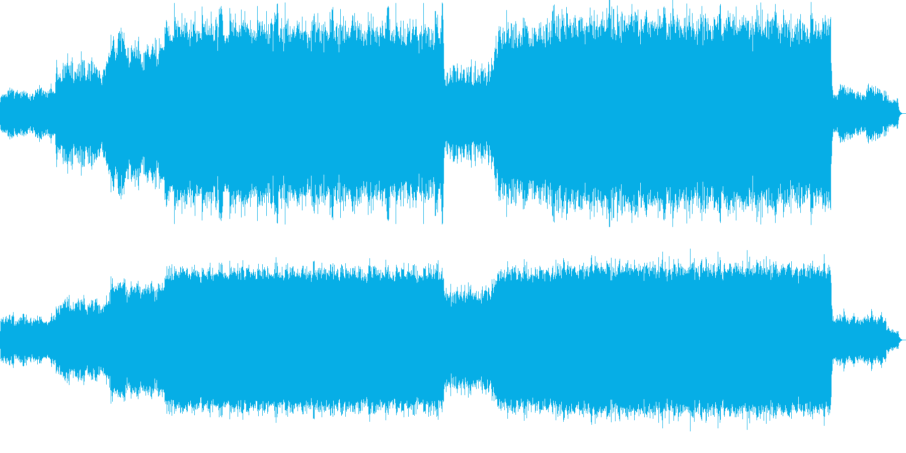 オーケストラっぽくしてみました。ゲーム…の再生済みの波形