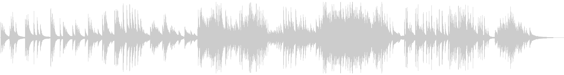 しっとり感動的なピアノの演奏の未再生の波形