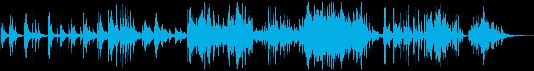 しっとり感動的なピアノの演奏の再生済みの波形
