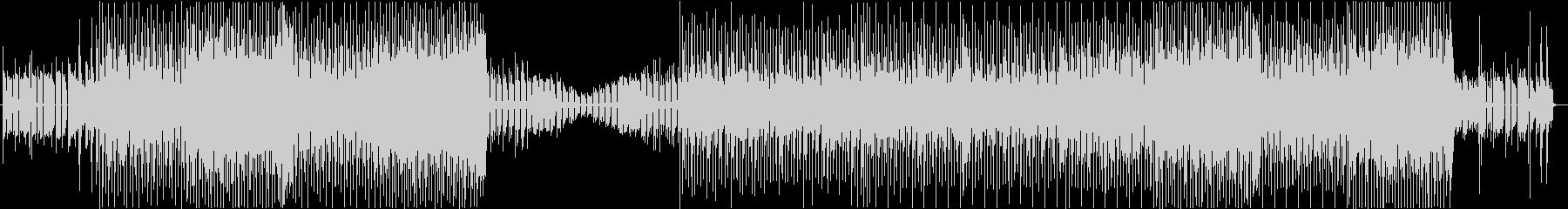 バトルシーンをイメージした電子音楽の未再生の波形