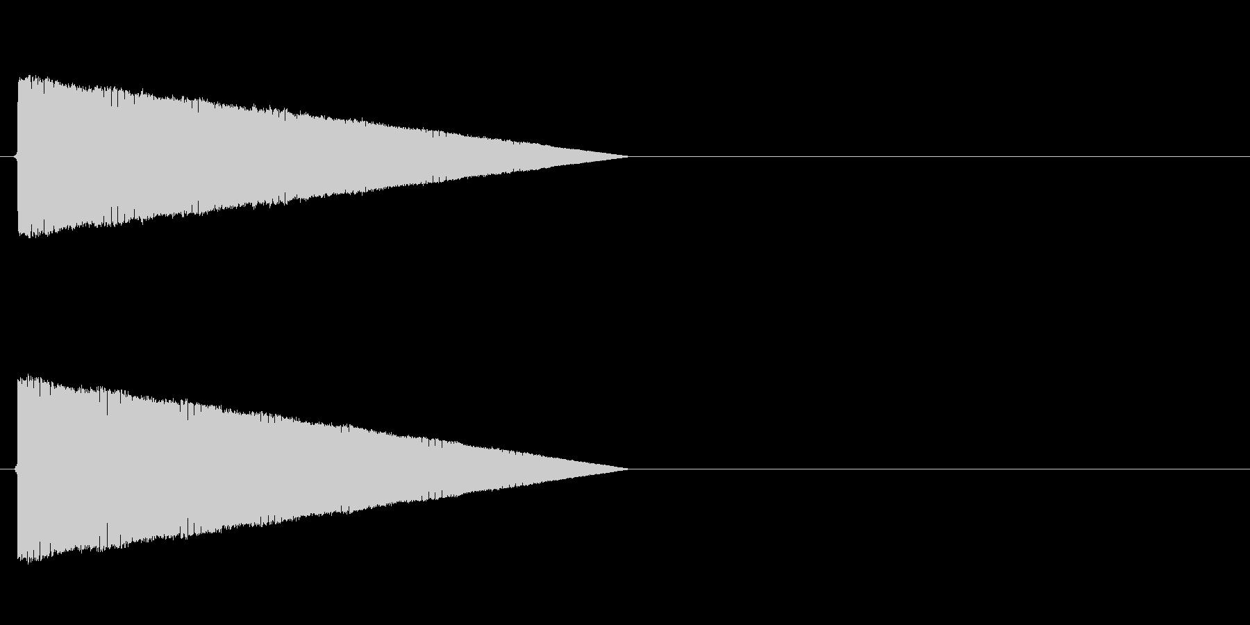 ポワワワワワ(転送、レトロゲーム、低い)の未再生の波形