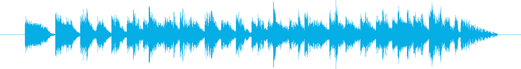 各種Hit系音色を組み合わせたジングルの再生済みの波形