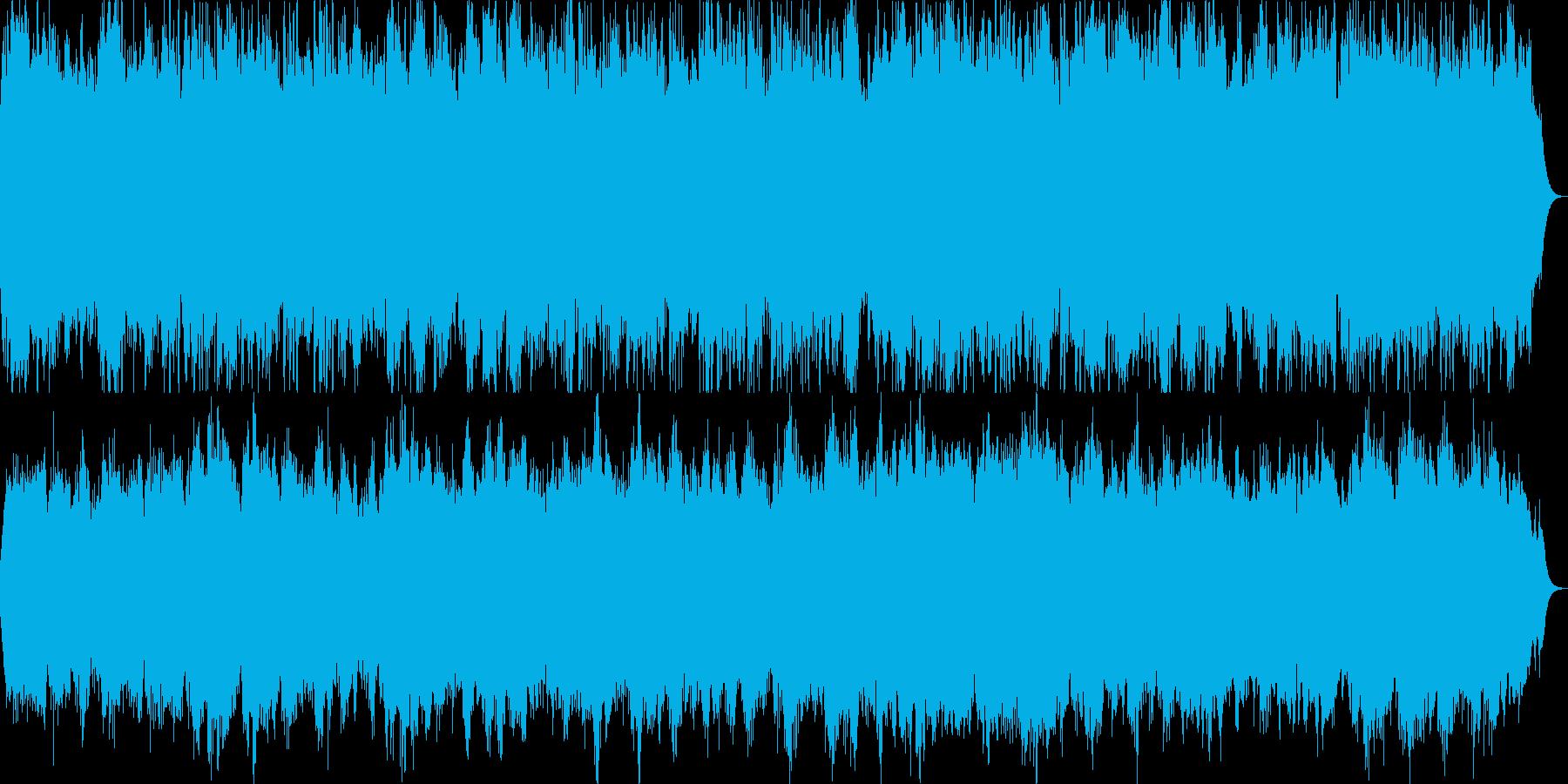 お城での戴冠式のイメージ。壮大なスケールの再生済みの波形