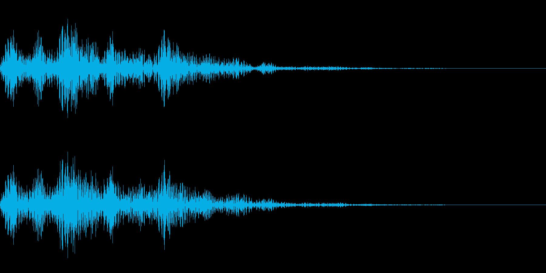 ピョコッとした音です。の再生済みの波形