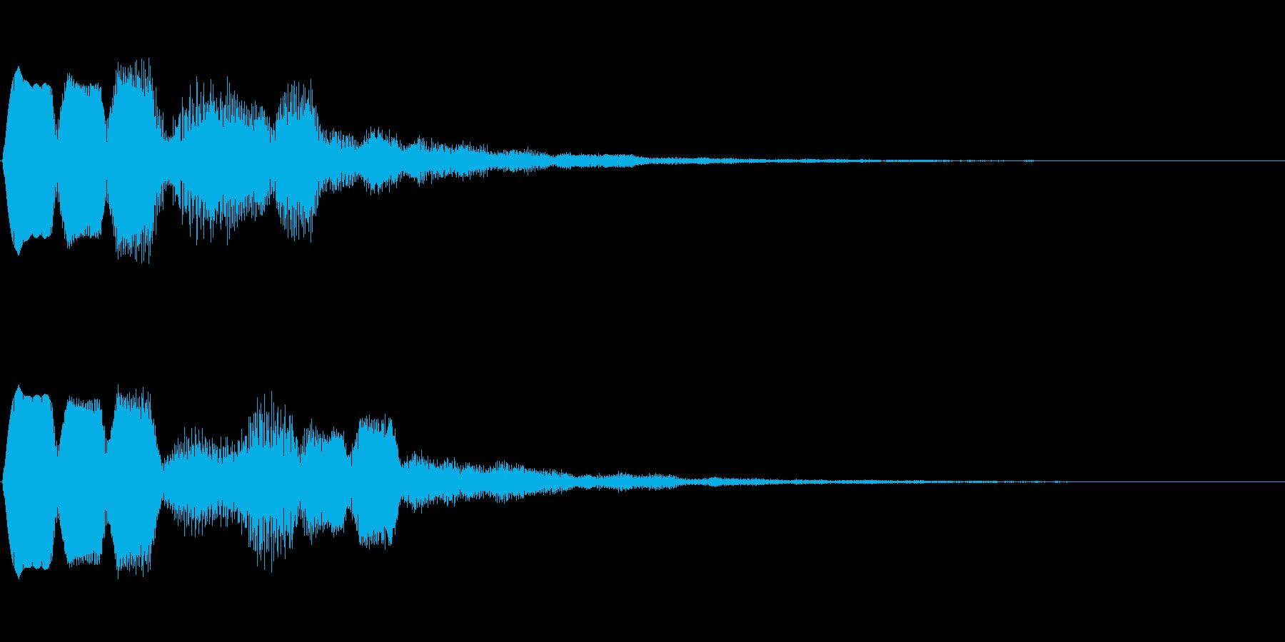 決定音、ゲーム、アプリ、動画などにの再生済みの波形