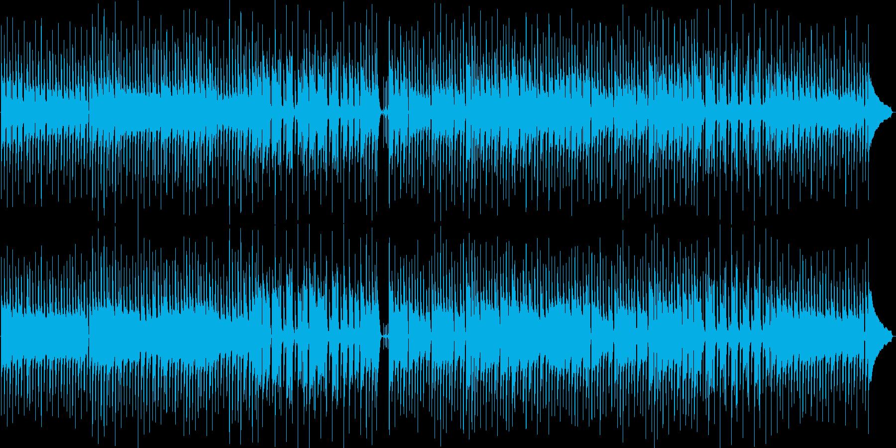かわいくコミカルなポップスの再生済みの波形