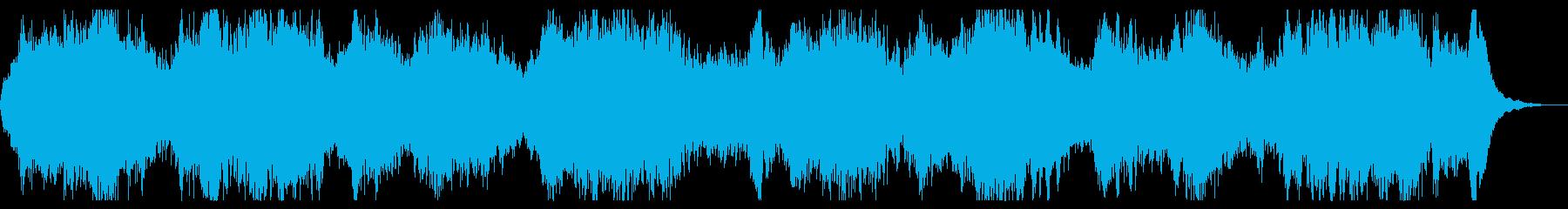 ダークアンビエント 恐怖感演出 不快な音の再生済みの波形