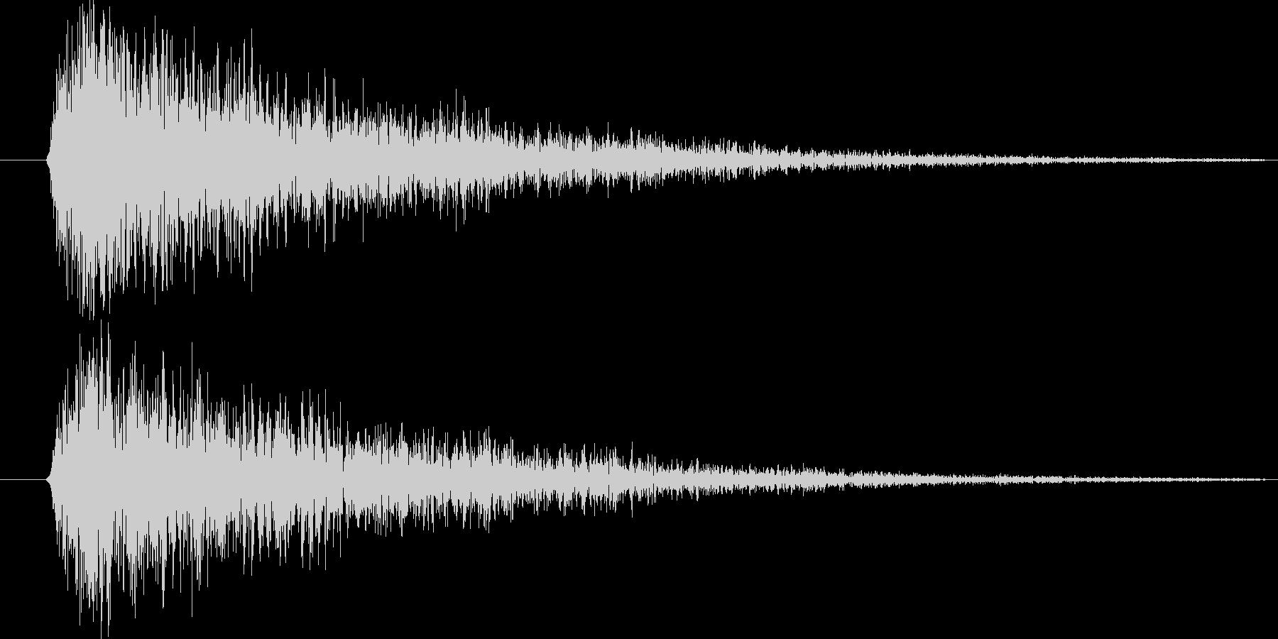 金属音の未再生の波形