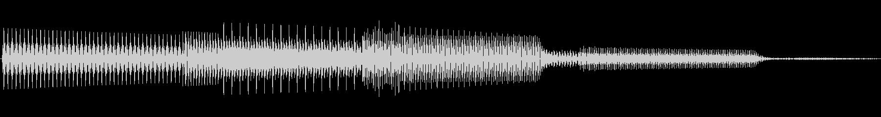 ボタン決定音システム選択タッチ登録B04の未再生の波形