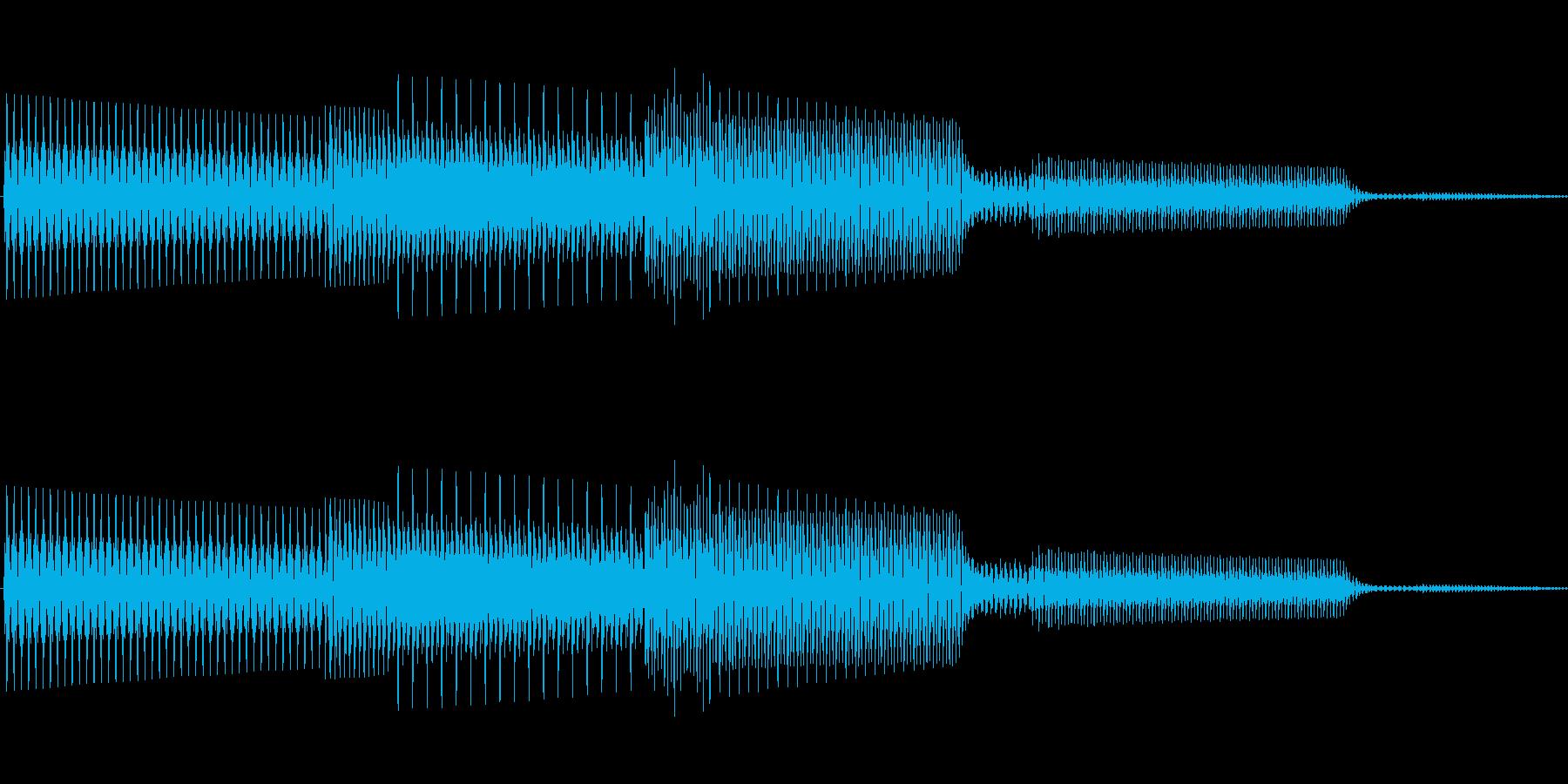 ボタン決定音システム選択タッチ登録B04の再生済みの波形
